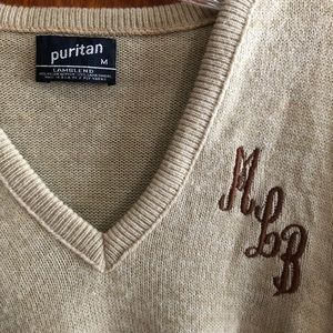 Puritan Sweaters - Vintage lambswool MLB embroidered sweater